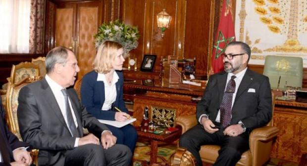 الملك يستقبل وزير الشؤون الخارجية بفدرالية روسيا.
