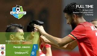 Persija Jakarta Menang 1-0 atas Sriwijaya FC
