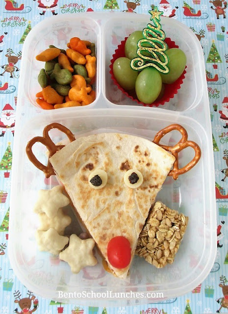 Rudolph The Red Nosed Reindeer Quesadilla Lunch.