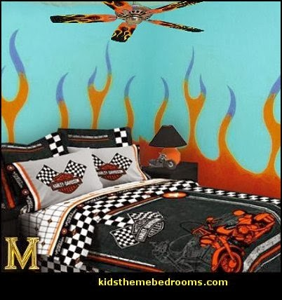 harley davidson theme bedrooms flames bedroom ideas flames themed bedrooms