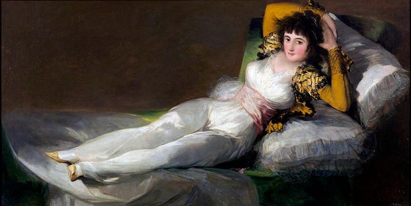 A Maja Vestida - Goya, Francisco e suas pinturas ~ Foi um importante pintor espanhol da fase do Romantismo
