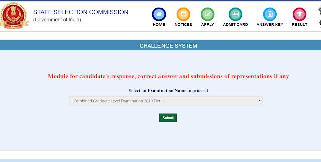 SSC CGL 2019 Answer Key