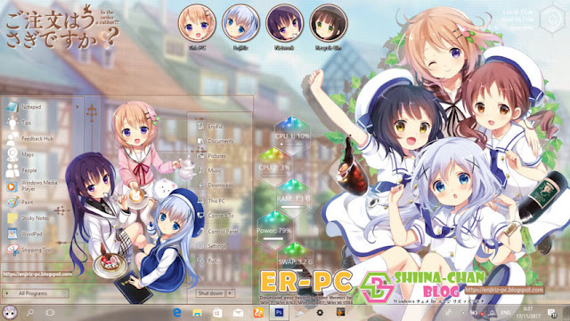Windows 10 Ver. 1709 Theme Gochuumon wa Usagi desu ka? by Enji Riz