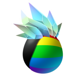 Appearance of Drainbow Dragon when egg
