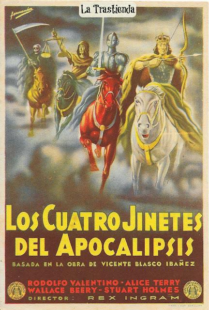 Programa de Cine - Los Cuatro Jinetes del Apocalipsis - Rodolfo Valentino - Cine Mudo