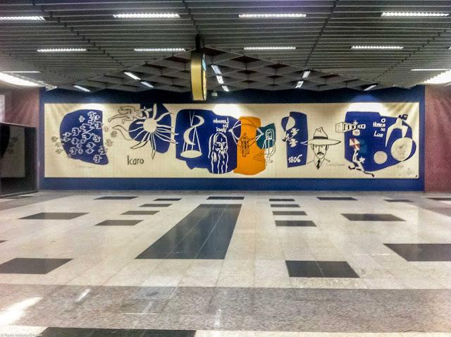 """Mural """"O eterno sonho"""" de Poty Lazzarotto"""
