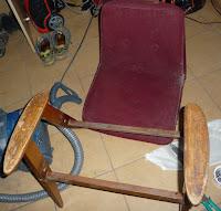 renowacja fotela model 366 krok po kroku