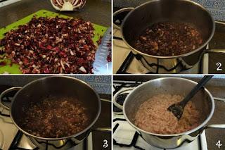foto preparazione Ricetta risotto radicchio di Chioggia e stracchino per bambini