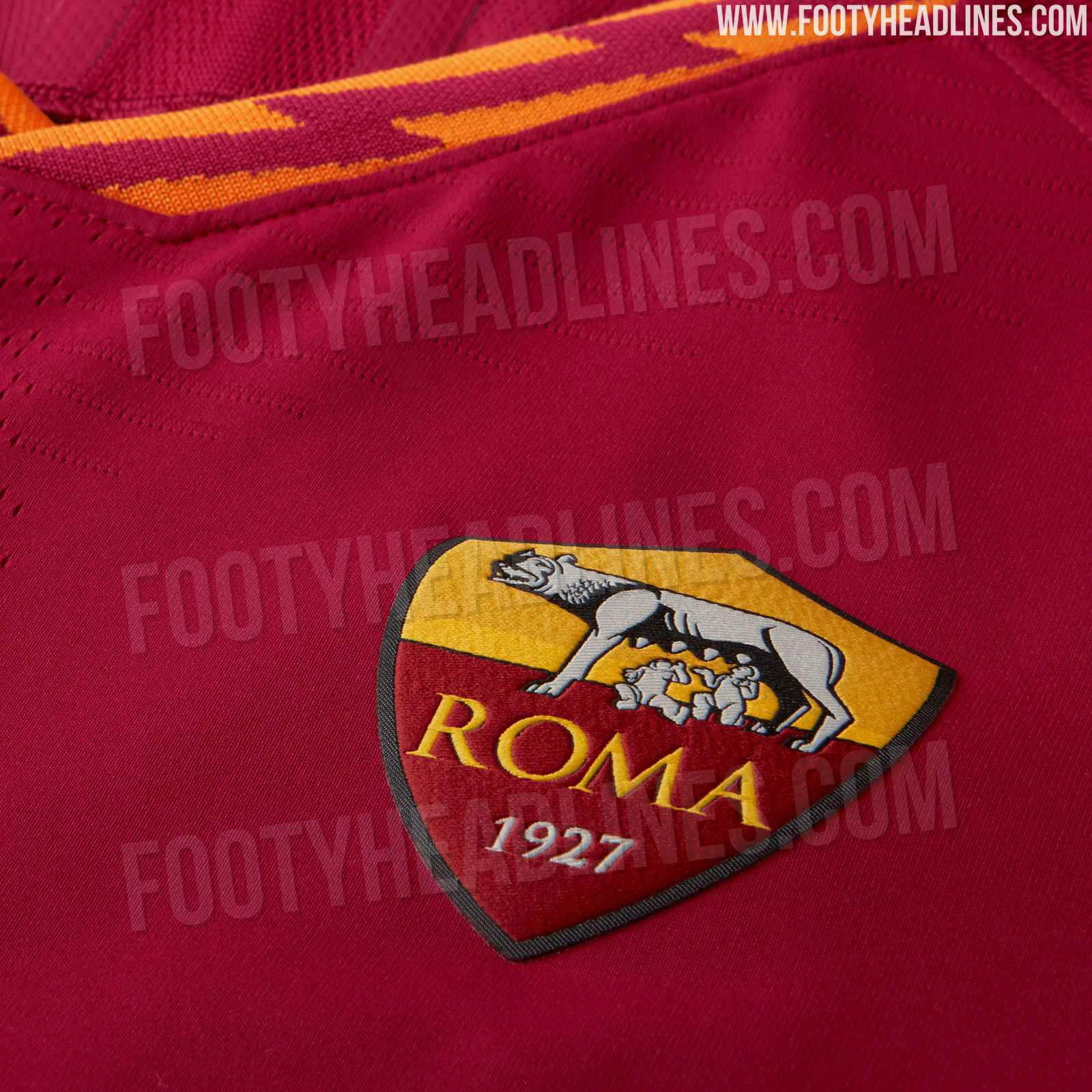 ffb94cbeed8 Six New Pictures  Nike AS Roma 19-20 Home Kit Leaked. Shop Serie A at Classic  Football Shirts Buy now. Get 10% OFF everything at CFS using our code FH10