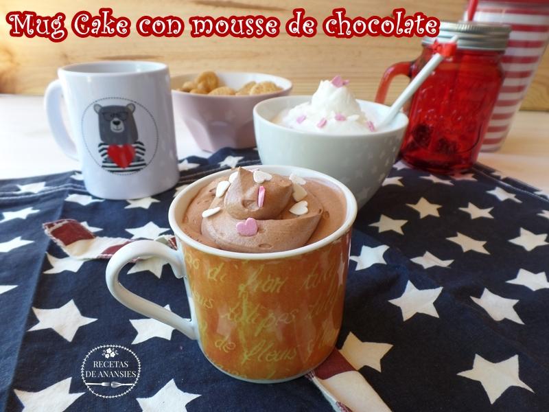 Mug Cake con mousse de chocolate Milka