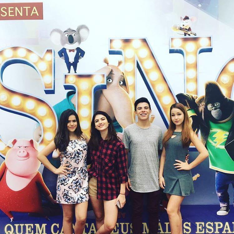 Mharessa Fernanda, Giovanna Grigio, Maisa Silva e Thomaz Costa