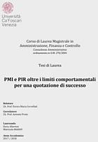 PMI e PIR oltre i limiti comportamentali per una quotazione di successo