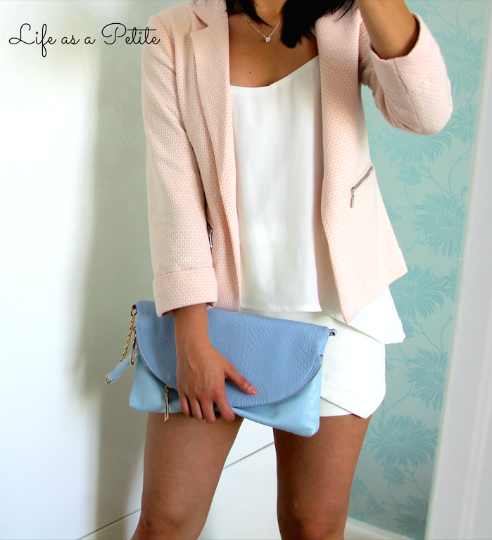 Faux Leather White Skort - White on White Life as a Petite