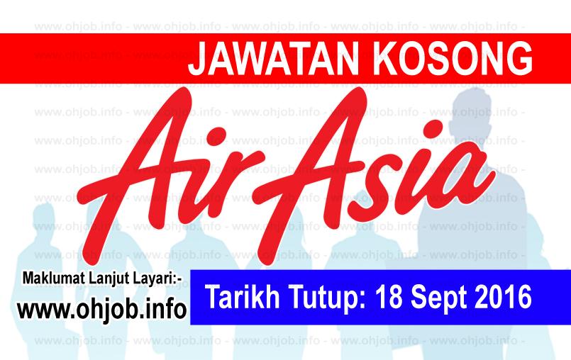Jawatan Kerja Kosong AirAsia Berhad logo www.ohjob.info september 2016