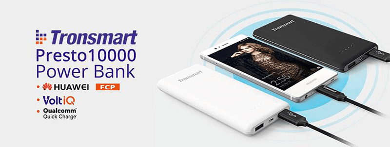 Tronsmart Presto 10000 Power Bank With FCP