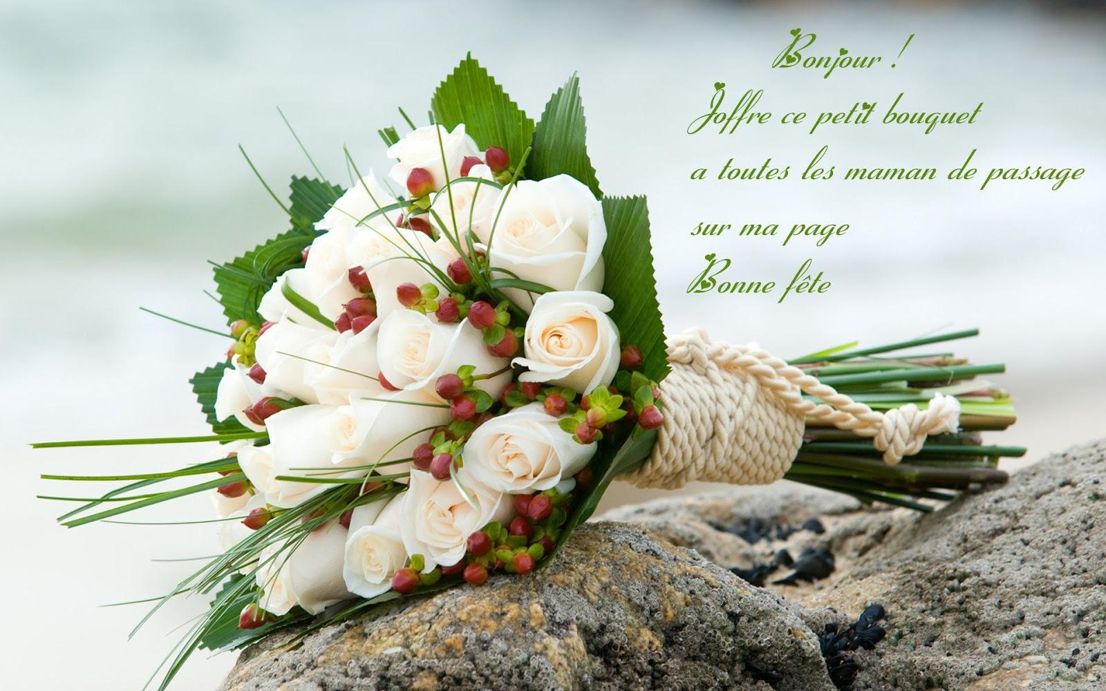 Ce jolie bouquet pour cette belle journée, une bonne fête à toute les Maman...