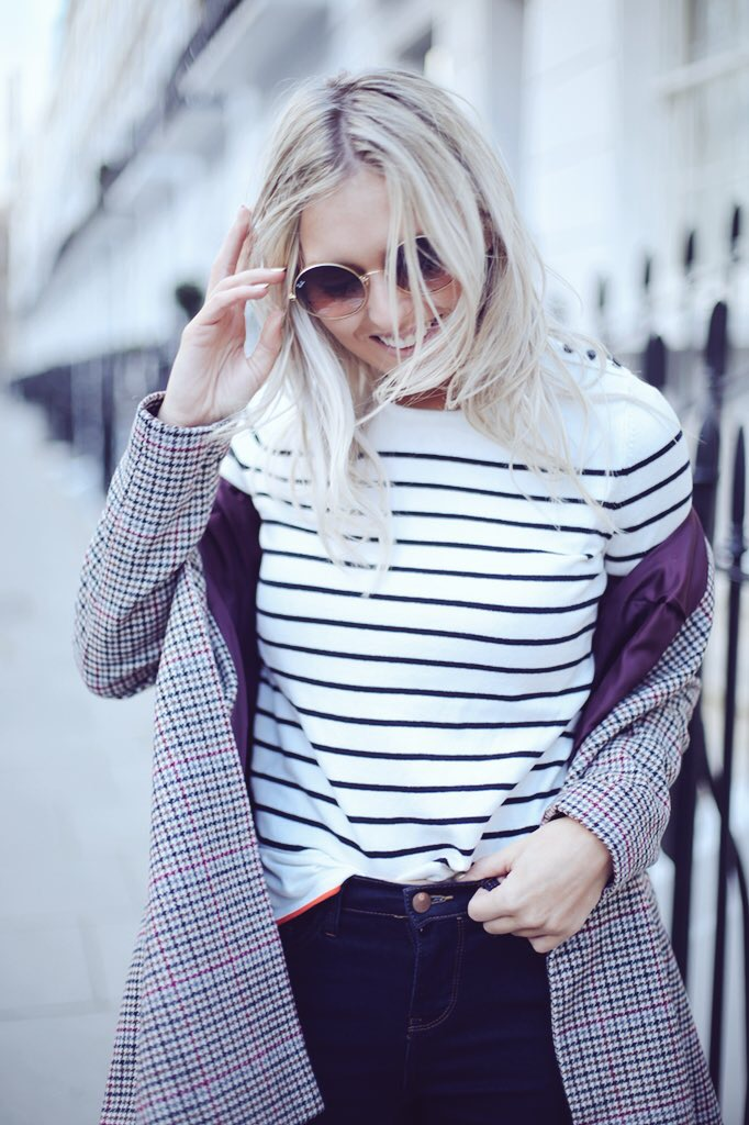 fashion photography stripe top