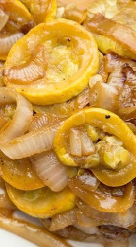 Squash And Onions with Brown Sugar