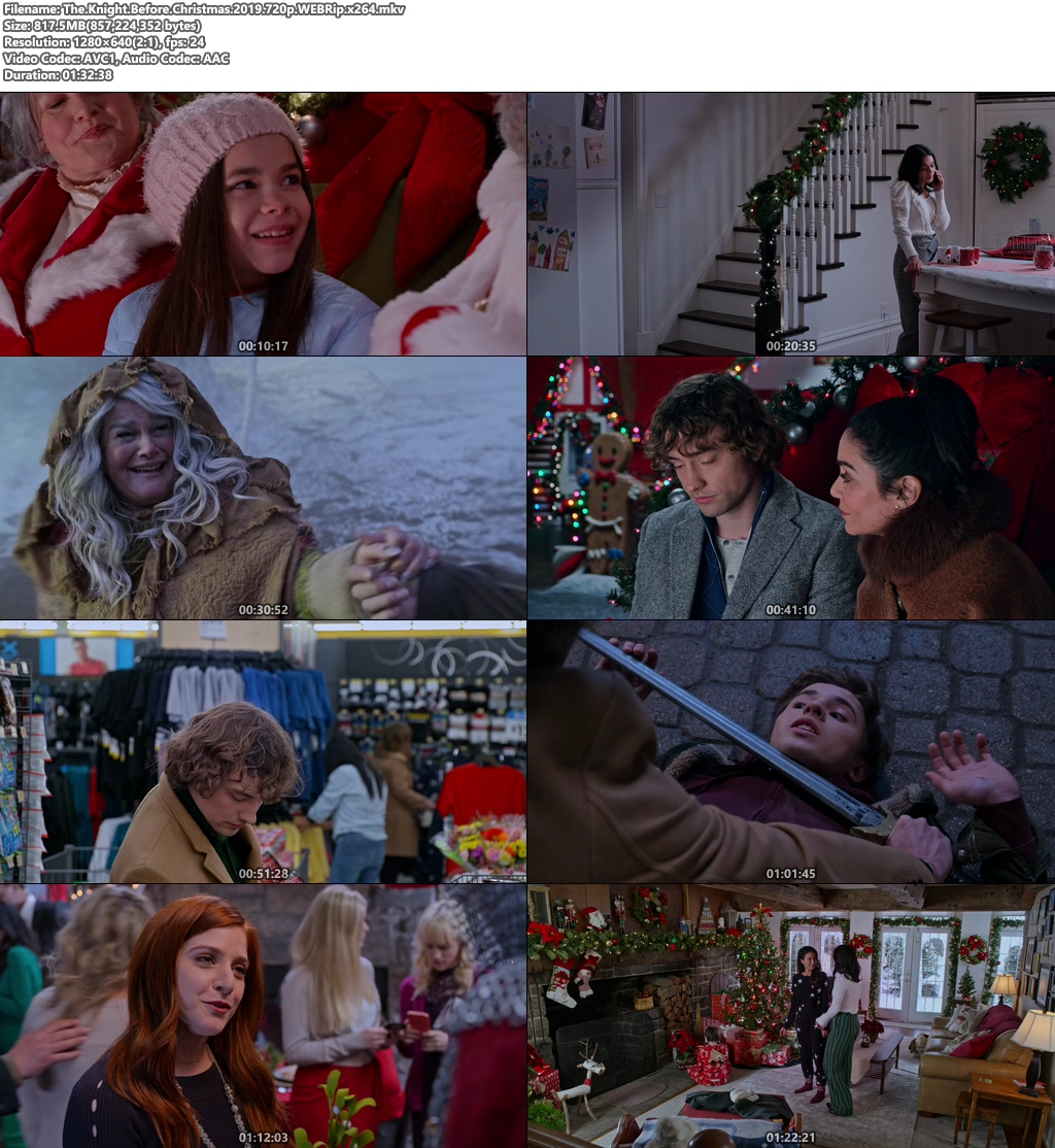 The Knight Before Christmas 2019 720p WEBRip x264 | 480p 300MB | 100MB HEVC Screenshot
