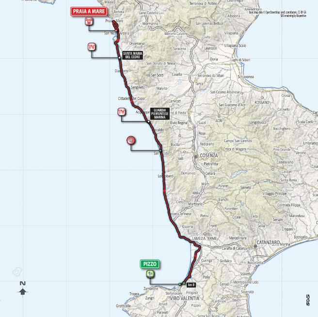 DIRETTA GIRO d'Italia 2018: partenza Pizzo (Vibo Valentia), arrivo in volata Praia a Mare (Cosenza), Streaming Gratis Tappa 7 Oggi su Rai TV