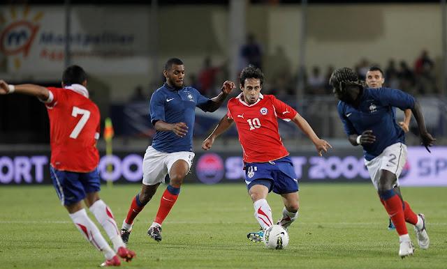 Francia y Chile en partido amistoso, 10 de agosto de 2011