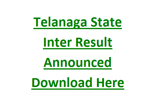Telangana State Intermediate First/Second Year Result