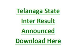 Telanaga State Inter Result Announced Download Here Now