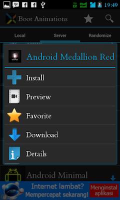 Cara Membuat dan Merubah Boot Animation Pada Android
