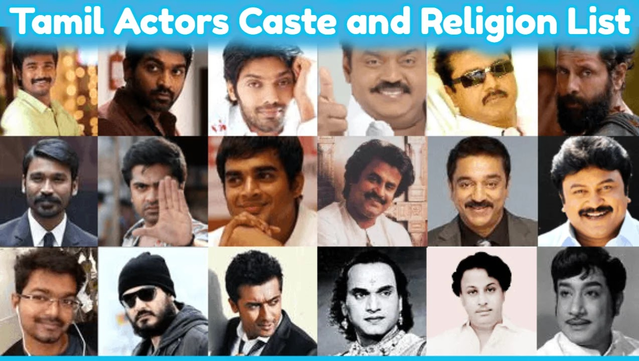 Tamil Actors Caste and Religion List [All Heroes List]