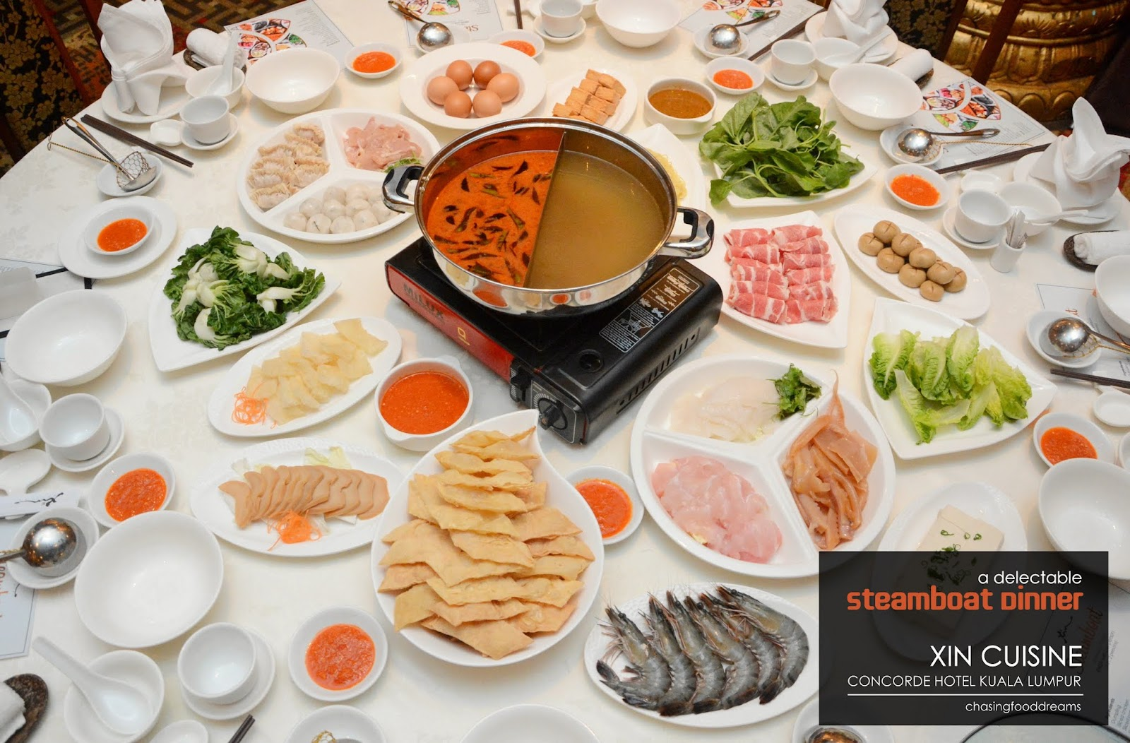 Chasing Food Dreams Steamboat Dinner Xin Cuisine Concorde Hotel
