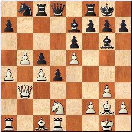 Partida de ajedrez Fuentes - Martínez Mocete, posición después de 21.a4