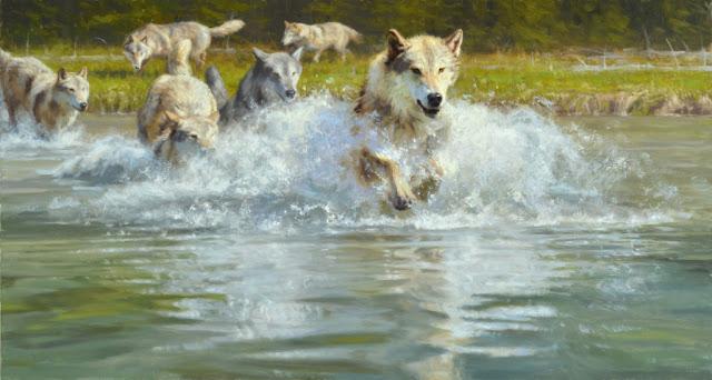 "by Kyle Sims, ""Unleashed"" - oil | pinturas, obras de arte, imagenes bellas de paisajes, american art."