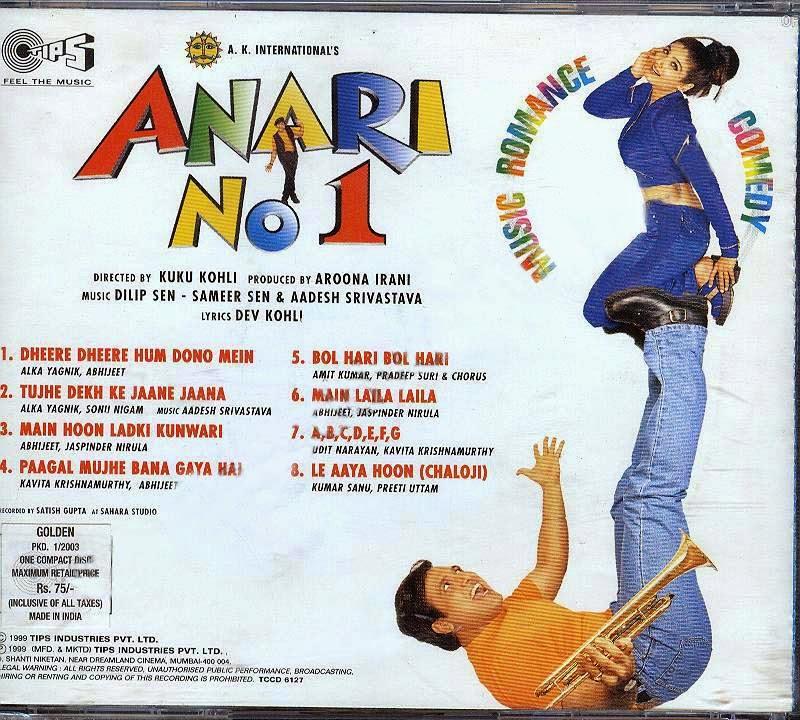 Chahunga Main Tujhe Mp3 Download 320kbps: Renas.tk Mp3 (TKR): Anari No.1 [1999-MP3-VBR-320Kbps]