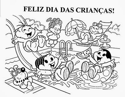 Desenhos Do Dia Das Crianças Para Imprimir E Colorir Pintar Só Escola