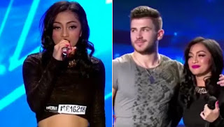 Resciebelle and Sorin at the Romania Got Talent Stage.