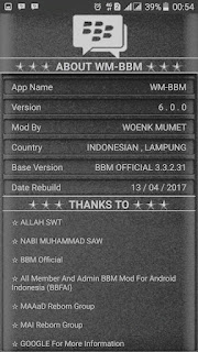 BBM MOD MANUAL ALA WM v3.3.2.31 terbaru