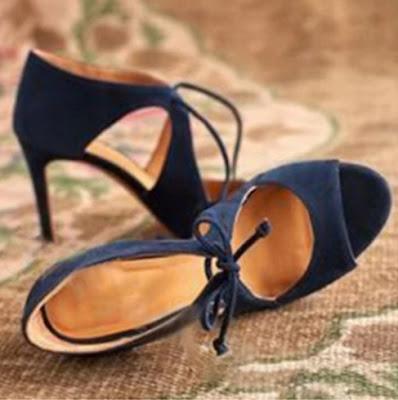 Plain Stiletto High Heeled Velvet Criss Cross Point Toe Date Peep-Toe Heels-Price:$31.00
