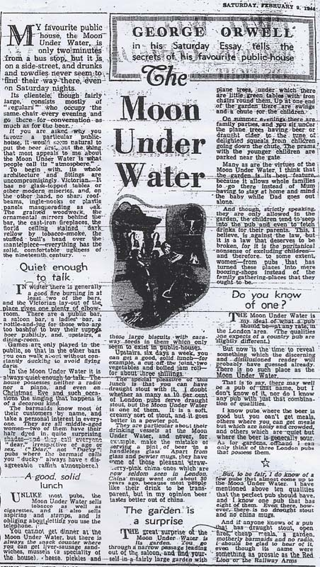 the moon under water is a 1946 essay by george orwell