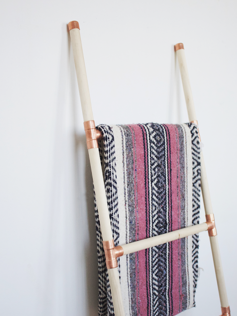 Handtuchleiter zum Selbermachen - schnelles Design mit Holz und Kupfer fürs Bad