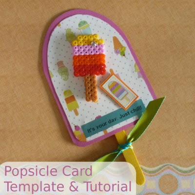 Free Popsicle Shaped Template to Make a Card