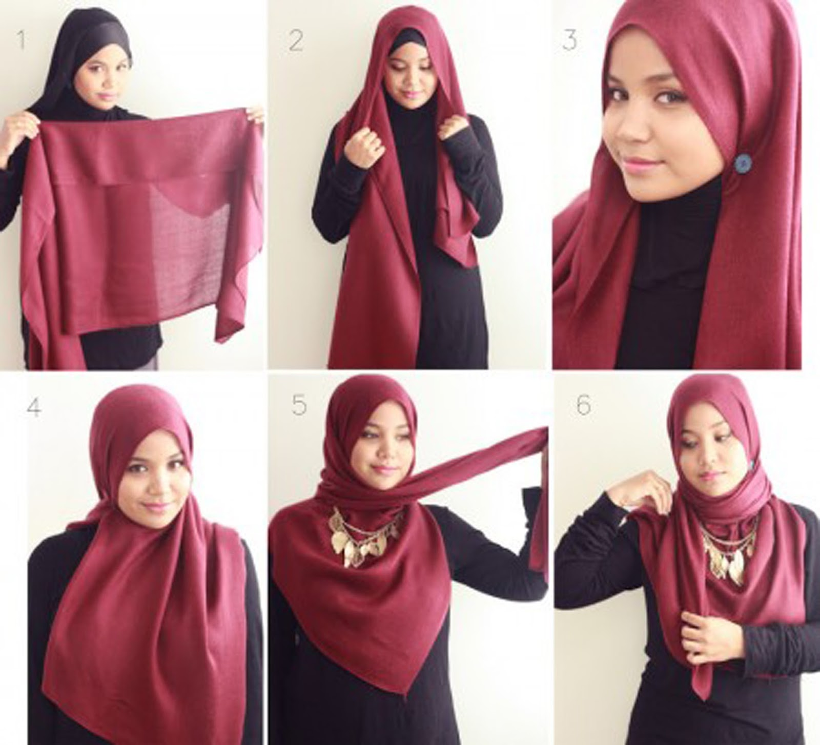 How To Wear Hijab On Round Face 15 Easy And Simple Hijab
