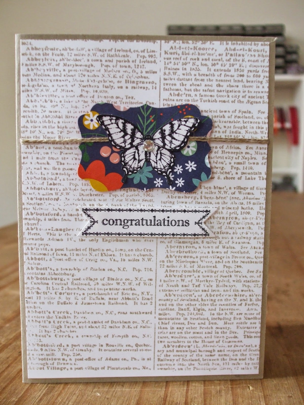 Stampin' Up! Dictionary, butterfly punch, papillon potpourri