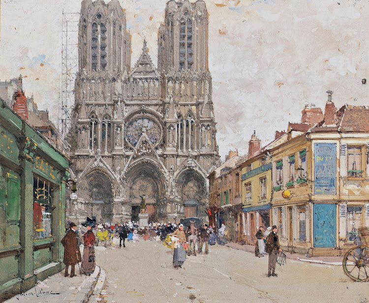 Eugène Galien Laloue - Reims Cathedral (c.1941)