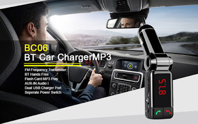 Best-BC06 Bluetooth USB/SD MP3 Player & Φορτιστής 2x USB - Car FM Transmitter