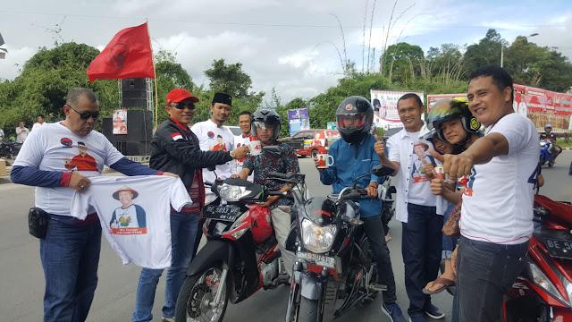Hari Terakhir Kampanye, Relawan MB Gelar Aksi di Hamtebiu