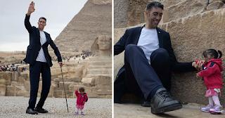 Ο πιο ψηλός άντρας του κόσμου συνάντησε την πιο κοντή γυναίκα του κόσμου