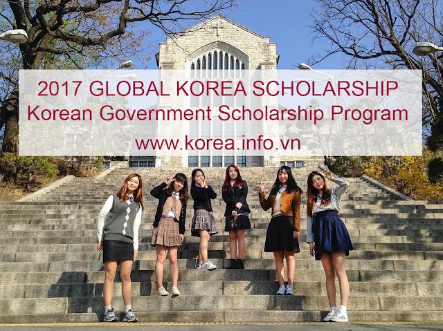 Học bổng chính phủ Hàn Quốc hệ đại học 2017