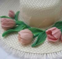 как сделать тюльпаны для украшения шляпы