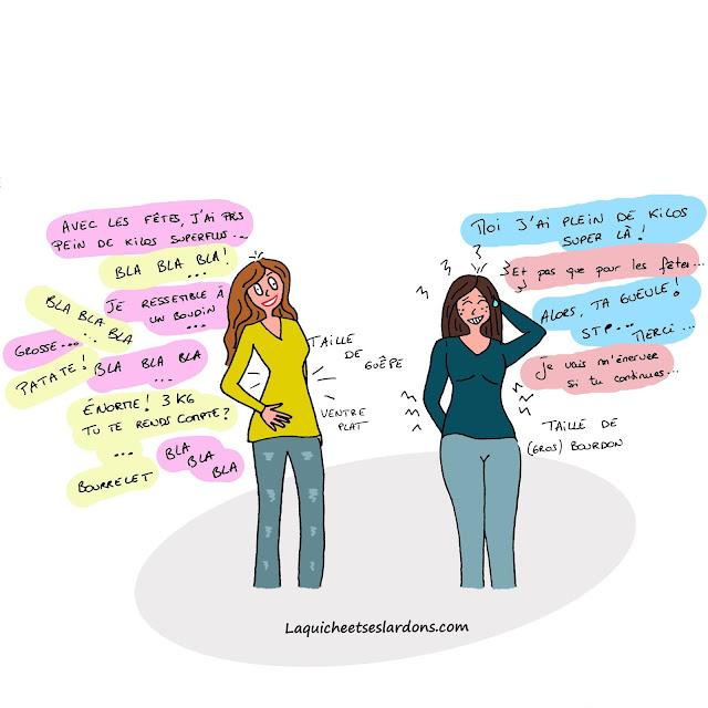 Dessin illustration humour femme maman après les fêtes prise de poids