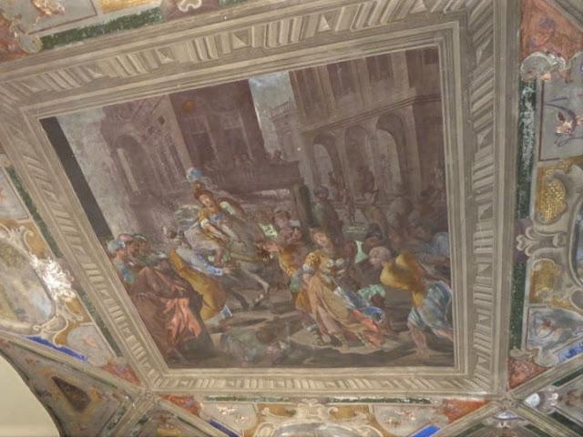 affresco che raffigura Olindo e Sofronia palazzo nicola grimaldi
